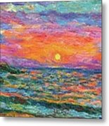 Burning Shore Metal Print
