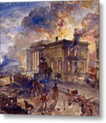 Burning Temple Of The Winds, 1856 Metal Print