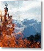 Burning The Winter Blues Away Metal Print