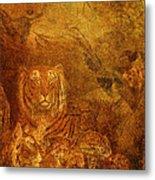 Burnished Tigers Metal Print