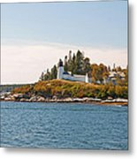 Burnt Island Lighthouse Metal Print