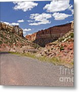 Burr Trail Road Through Long Canyon Metal Print