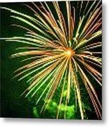 4th Of July Fireworks 6 Metal Print by Howard Tenke