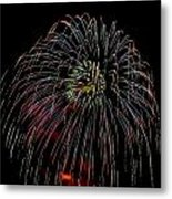 Burst Of Fireworks Metal Print