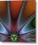 Bursting Star Nova Fractal Metal Print