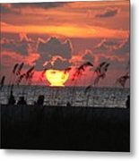 Bursting Sunset Metal Print
