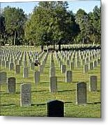 Bushnell National Cemetary Metal Print