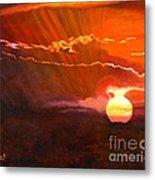 Bushveld Sunset Metal Print
