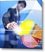 Business Abstract Metal Print by Atiketta Sangasaeng