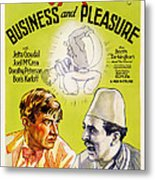 Business And Pleasure, Left Will Metal Print