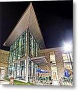Business Building At Night Metal Print