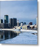 Business District Of Moscow Metal Print