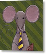 Business Mouse Metal Print