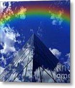 Business Rainbow And Rays Of Light Metal Print