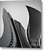 Business Skyscrapers Abstract Conceptual Architecture Metal Print by Michal Bednarek