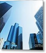 Business Skyscrapers Metal Print