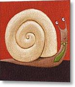 Business Snail Painting Metal Print
