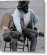 Busker With Style Metal Print