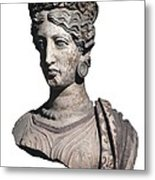 Bust Of A Woman. 4th C. Bc Metal Print