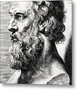 Bust Of Plato  Metal Print