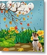 Buster And The Tree Metal Print