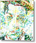 Buster Keaton - Watercolor Portrait Metal Print