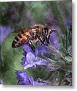 Busy As A Bee Metal Print by Jeff Swanson