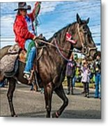 Busy Cowgirl Metal Print