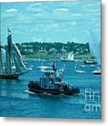 Busy Halifax Harbor During The Parade Of Sails Metal Print