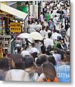Busy Takeshita Dori Metal Print
