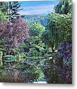 Butchart Gardens Is A Group Of Floral Display Gardens British Columbia Canada 3 Metal Print