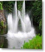 Butchart Gardens Waterfalls Metal Print