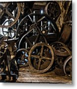 Butte Creek Mill Interior Scene Metal Print