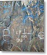 Butte Graffiti Metal Print