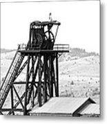 Butte Mine Shaft Metal Print