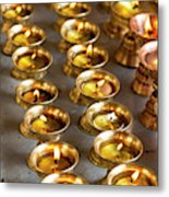 Butter Lamps, Lamayuru, Indus Valley Metal Print