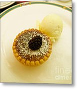 Butter Tart With Ice Cream Metal Print