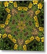 Buttercup Kaleidoscope Metal Print