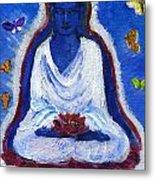 Butterflies Dream Of Buddha Metal Print