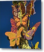 Butterflies On A 2015 Rose Parade Float 15rp047 Metal Print