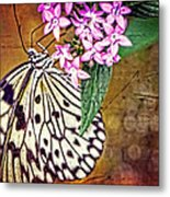 Butterfly Art - Hanging On - By Sharon Cummings Metal Print by Sharon Cummings