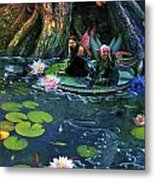 Butterfly Ball Pond Metal Print