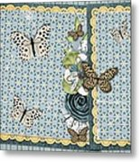 Butterfly Dreamland Metal Print