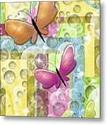 Butterfly Dreams Metal Print by Karen Sheltrown