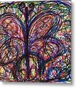 Butterfly Friends Metal Print
