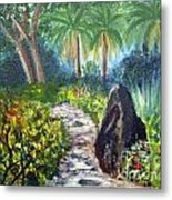 Butterfly Garden At Gumbo Limbo Metal Print