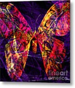 Butterfly In Abstract Dsc2977 Square Metal Print