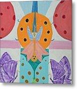 Butterfly Kisses And Ladybug Hugs Metal Print