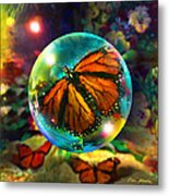 Butterfly Monarchy Metal Print