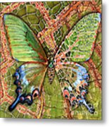 Butterfly Mosaic 03 Elena Yakubovich Metal Print by Elena Yakubovich